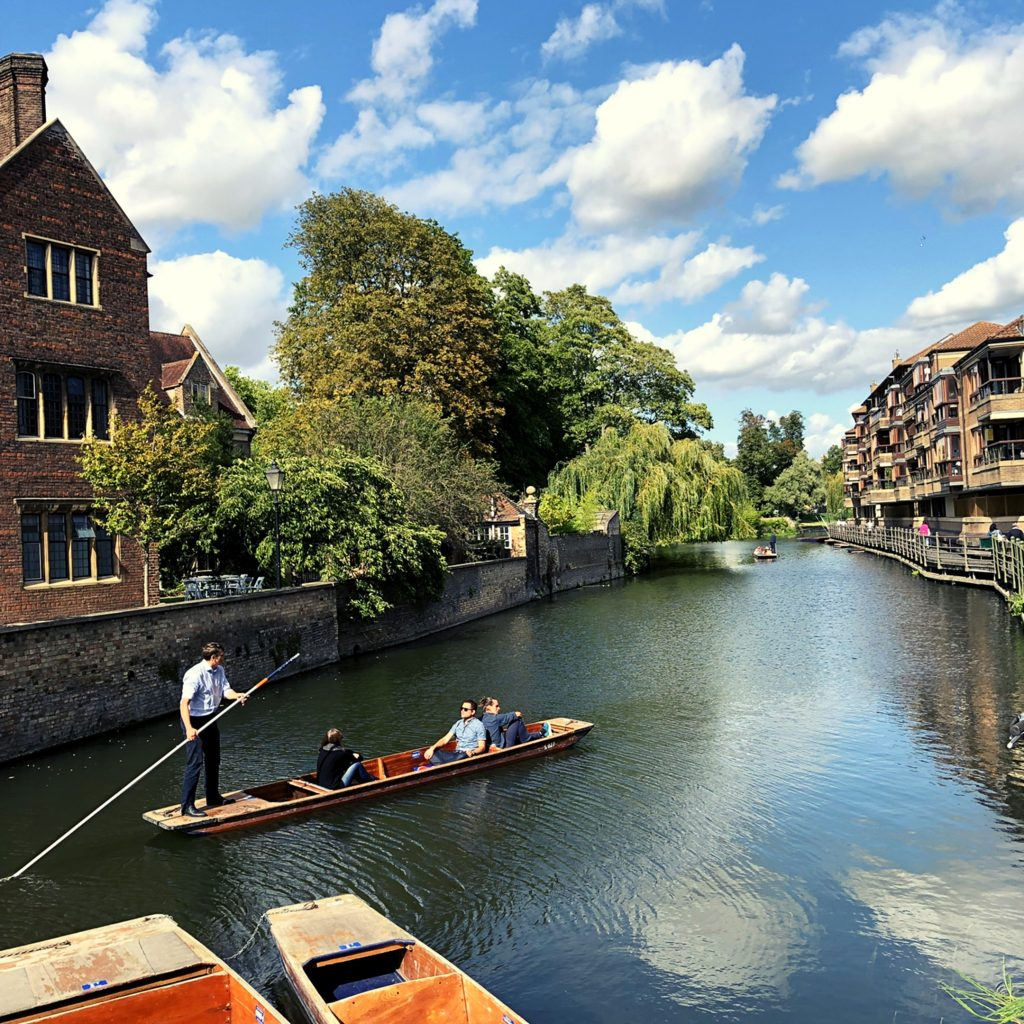 Punting in Cambridge, East Anglia