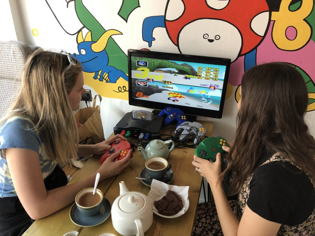 Games and Tea in Boo Didley's, Brighton