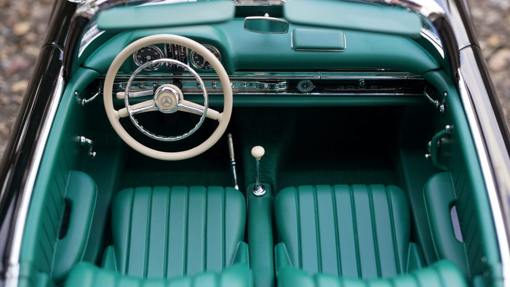 Automatic classic car used while driving in America