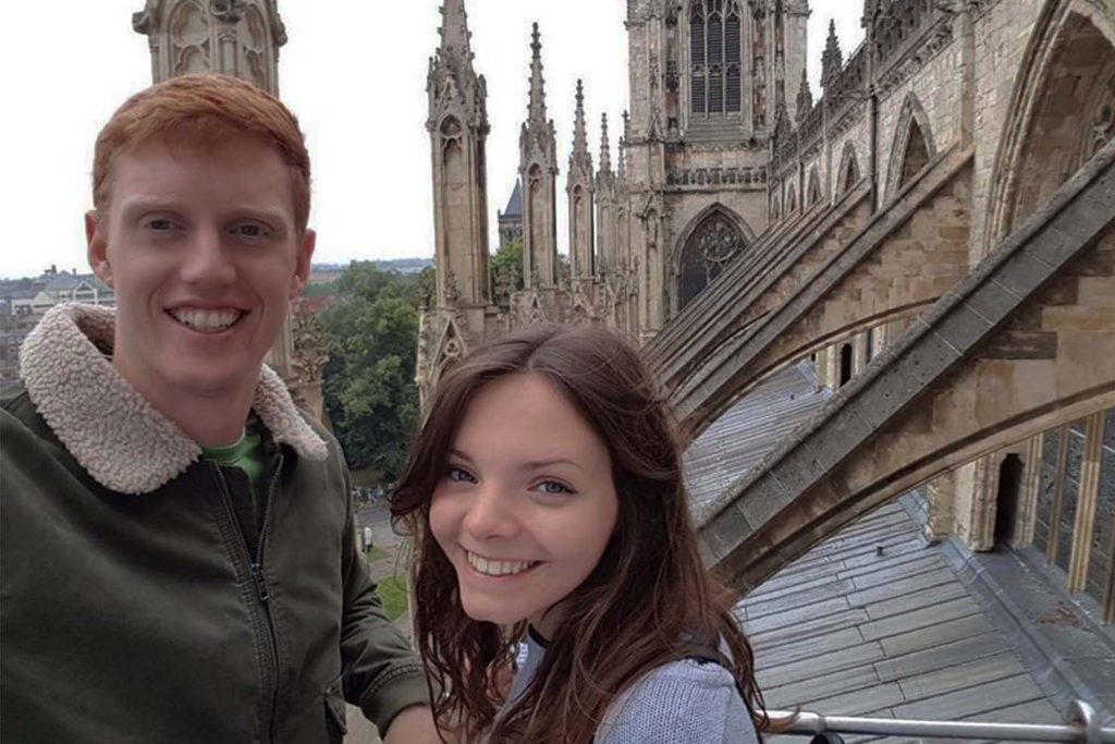 David and I at York Minster